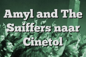 Amyl and The Sniffers naar Cinetol