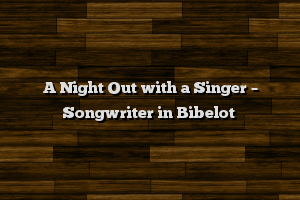 A Night Out with a Singer – Songwriter in Bibelot