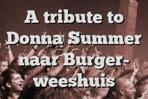 A tribute to Donna Summer naar Burger- weeshuis