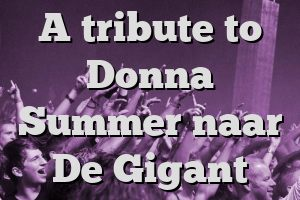 A tribute to Donna Summer naar De Gigant
