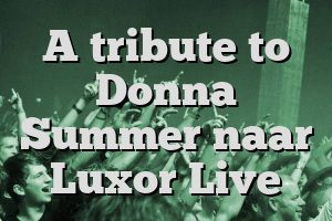 A tribute to Donna Summer naar Luxor Live